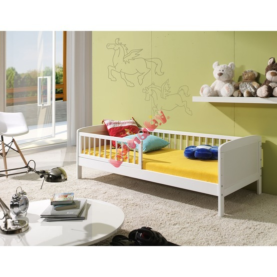 White Junior Children's Bed - 160 x 70 cm