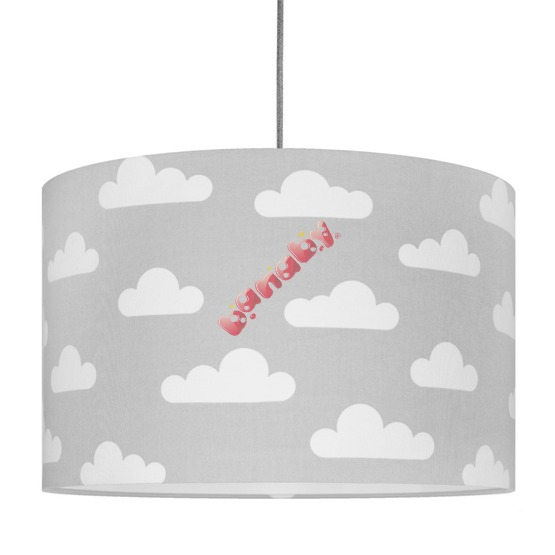 Textile hanging lamp Clouds - grey
