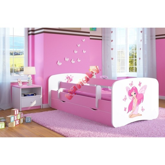 Ourbaby Children's Bed with Safety Rail - Butterfly Fairy