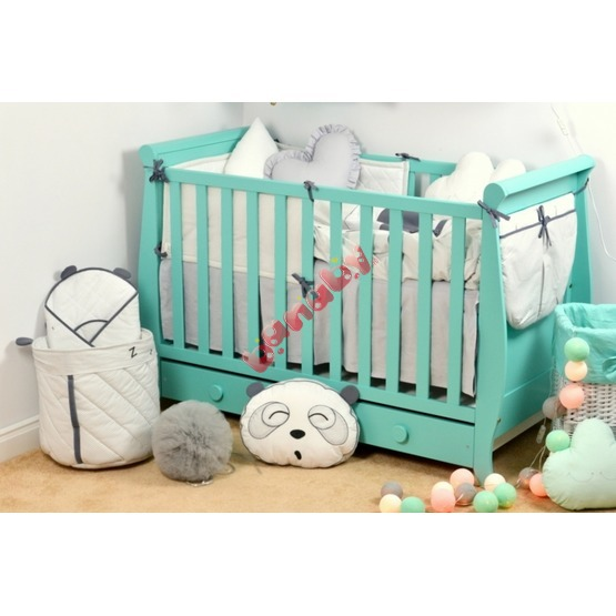 Misha Baby Cot - Mint Green