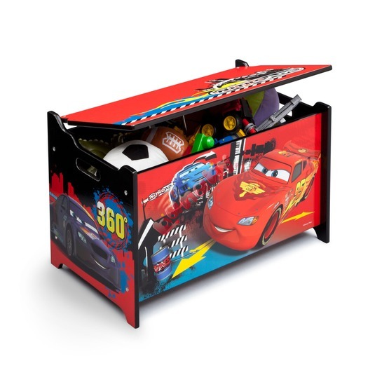 Cars 2 Wooden Toy Chest