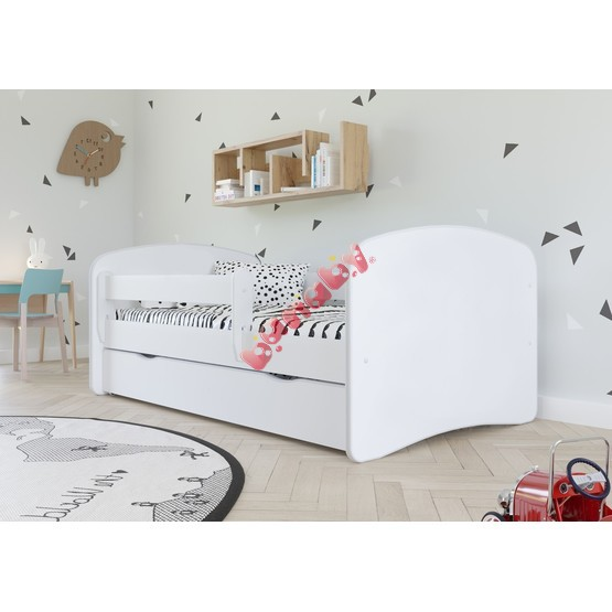 Baby bed with Ourbaby barrier - white