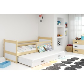 Baby bed with extra bed Rocky - natural-white, BMS