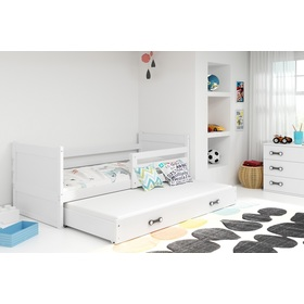 Baby bed with extra bed Rocky - white, BMS