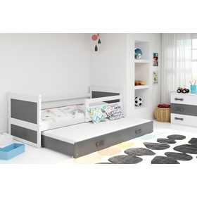 Baby bed with extra bed Rocky - white-gray, BMS
