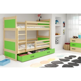 Baby patrová bed Rocky - natural-green, BMS