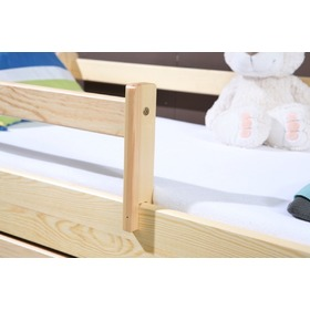 Woody cot with barrier - natural, Ourbaby
