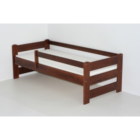 Children's Bed with Safety Rail - Walnut, Ourbaby