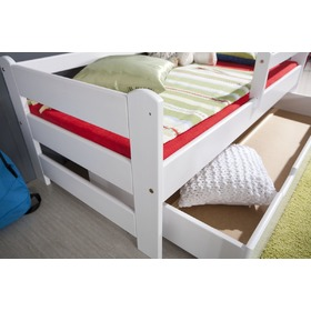 Woody bed with barrier - white, Ourbaby