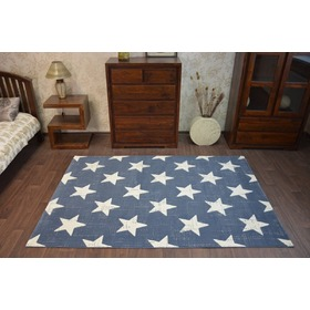 Stars Children's Rug - Blue, F.H.Kabis