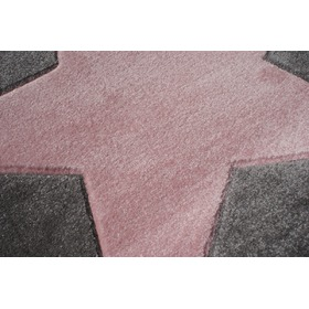 STAR Children's Rug - Silver-Grey/Pink, LIVONE