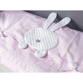 2-Piece Sleep&Hug Baby Cot Bedding Set - Pink, Modenex