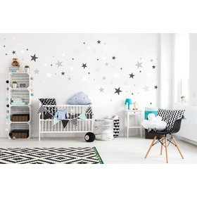 Decoration to wall - stars gray / white, Mint Kitten