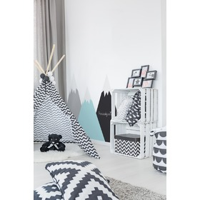 Behind the bed decoration - Mountains mint, Dekornik