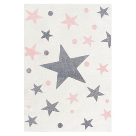 STARS Children's Rug - Cream/Pink, LIVONE