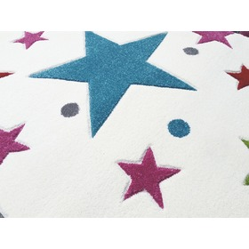 STARS Children's Rug - Cream/Multicolour, LIVONE