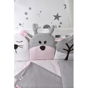 Cushion to cribs pink-gray