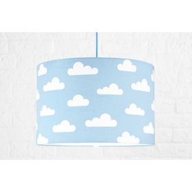 Textile hanging lamp Clouds - blue, YoungDeco
