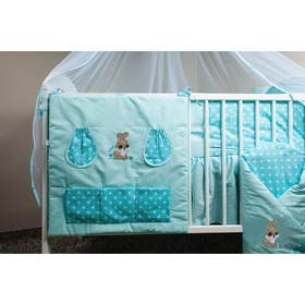 Bedding set for cribs 120x90cm Rabbit turquoise, Ankras
