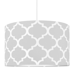 Textile hanging lamp Morocco - grey, YoungDeco