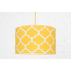 Textile hanging lamp Morocco - yellow, YoungDeco