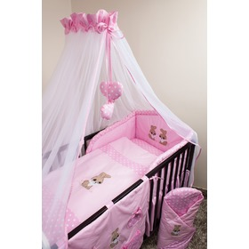 Bedding set for cribs 135x100cm Rabbit pink, Ankras