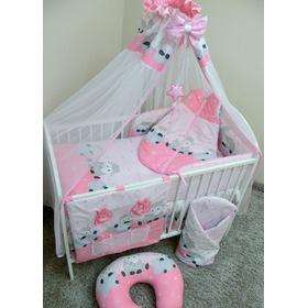 Bedding set for cribs 120x90cm Lamb - pink, Ankras