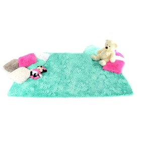 Mint Children's Plush Rug, Podlasiak