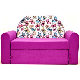Kids' sofa Timi jr. butterflies - pink, Welox