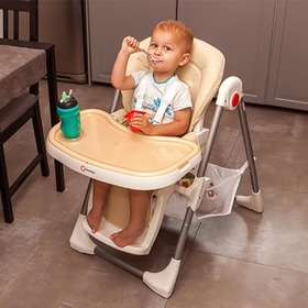 Children dining small chair LIONELO Linn Plus - beige, Lionelo