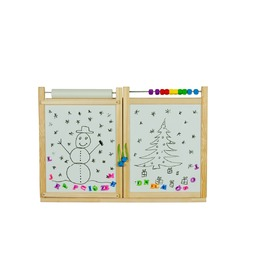 Children's magnetic / chalk wall board  - natural, 3Toys.com