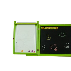 Children magnetic/chalk board on wall - green, 3Toys.com