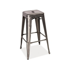 Bar stool LONG cut steel, SIGNAL MEBLE