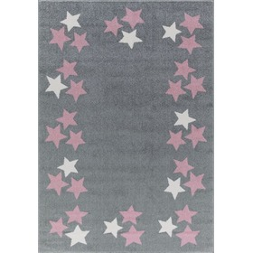 Children's rug BORDERSTAR grey-pink, LIVONE