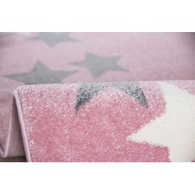 Children's rug BORDERSTAR pink-gray, LIVONE