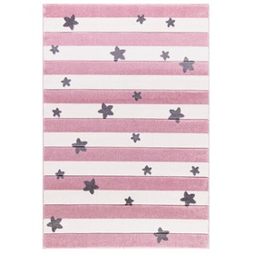 Children's rug STARS STRIPES pink, LIVONE