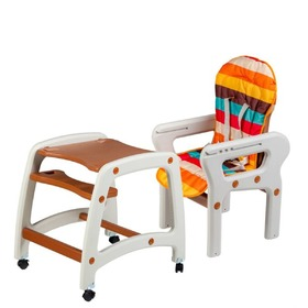 Small dining chair for children 3in1 - brown, EcoToys