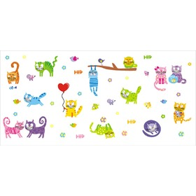 Decoration to wall FUNNY CATS, Mint Kitten