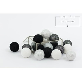 Cotton shining balls silver, cotton love