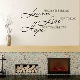 Decoration Learn, live, hope, Housedecor