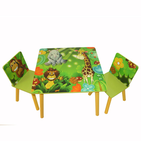 Children's table with chairs Jungle, Homestyle4u