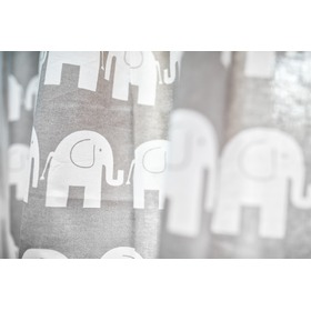 Curtains for children grey with elephants 20, Dom-Dekor