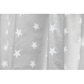 Curtains for children grey with white stars 18, Dom-Dekor