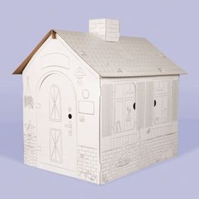 Children cardboard house with chimney, Nefere