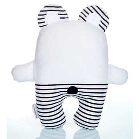 Bear Teddy in striped - large, Mint Kitten
