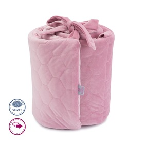 Padded liner for crib - pink