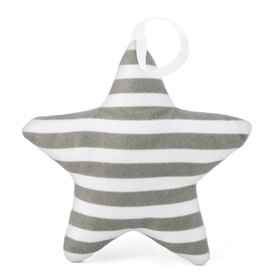 Suspendable decoration Star with dark gray strips, Mint Kitten