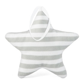 Suspendable decoration Star with light gray strips, Mint Kitten