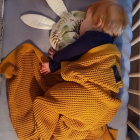 Blanket bamboo / cotton for children - different colors, Makaszka