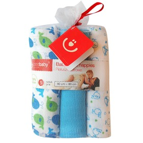 Moorcock diapers with print, Bobas